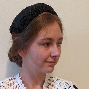Vintage 40s/50s black woven hat